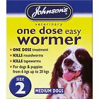 Johnsons One Dose Easy Roundworm Wormer Worming Tablets Medium Dogs 6kg - 20kg