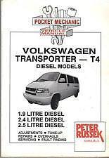VOLKSWAGEN TRANSPORTER T4 DIESEL FROM YEAR 2000 1.9 2.4 2.5 VAN CAR MANUAL