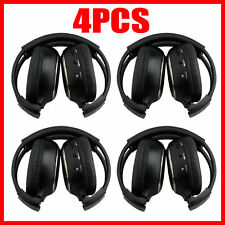 4X Infrared Stereo Wireless Headphone Headset IR for Car CD DVD Player Headrest