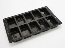 10 cell Mini Loaf Bread Roll Silicone Bakeware Cake Mould Pan Soap Resin Fudge