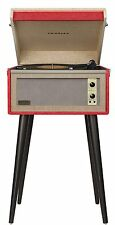 Crosley Dansette Bermuda Portable Turntable with Aux-In Red CR6233A-RE NEW