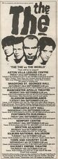 3/6/89Pgn40 Advert: 'the The Vs The World' Live Dates Spet - Oct 1989 9x3