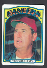 Ted Williams Danbury Mint Porcelain Reprint Card 1972 Topps Senators Manager 510