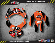 Leatt Brace 4.5 custom rider id kit - decals / stickers DIGGER style graphics