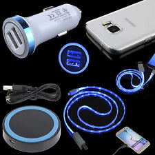 QI Wireless Charger + Car Adapter + TPU Case + USB Cable for Samsung Galaxy S7