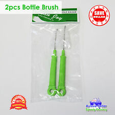 2 x Nozzle Bottle Brush Teat Cleaner Drink Baby Washing Cleaning Tool Straw