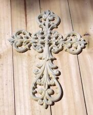 """Cross Wall Hanging ~ Antique White Finish {13 3/4"""" Tall } #2 ~ by PLD"""