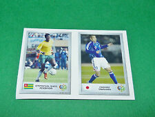 N°128 ADEBAYOR 110 TAKAHARA PANINI FOOTBALL GERMANY 2006 MINI-STICKERS