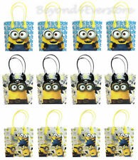 New Disney Minions the Movie Birthday Party Favors Goodie Bag 12pc Gift Set Bags