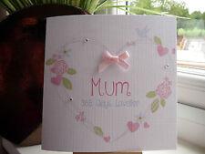 Moderno Hecho a mano personalizado de 365 días más bella tarjeta De Cumpleaños Mum Nan esposa amigo