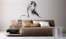 Wall Mural Vinyl Decal Sticker Beautiful Fashion Hair Salon Spa Girl Face AL732