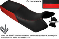 BLACK & RED CUSTOM FITS HONDA VF 500 F 84-86 DUAL LEATHER SEAT COVER
