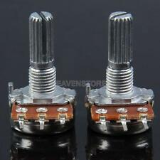 2x B500K Guitar Split Shaft Linear Taper Potentiometer Volume Tone Pot  hv2n