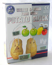NEW CREATE AND BUILD YOUR OWN POTATO BATTERY CLOCK SCIENCE SET PADG