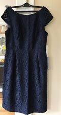 NEW J CREW Lace Elsa Dress In Leaver J.CREW Navy Blue 14 #A6005 Bridesmaid Party