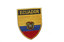 ECUADOR COUNTRY FLAG OVAL SHIELD FLAG EMBROIDERED IRON-ON PATCH CREST BADGE