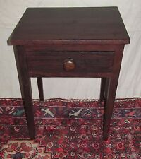 18TH CENTURY HEPPLEWHITE STATE OF MAINE GRAIN PAINTED ONE DRAWER TABLE IN PINE