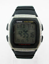 Casio Mens Digital Dial Date Chronograph Alarm Black Rubber Strap Watch W96H-1AV