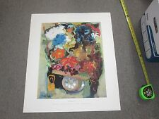 "Print Poster Unframed Unfolded Mane Katz Flower Cart 16"" x 20"" - 22"" x 26"""