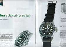 SP95 Clipping-Ritaglio 2009 Rolex Submariner militari un orologio in uniforme