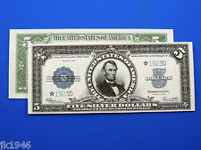 Reproduction $5 1923 Silver US Paper Money Currency Copy