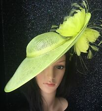 ZEST LIME GREEN WEDDING HATINATOR HAT OCCASION MOTHER OF THE BRIDE