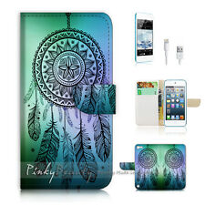 iPod Touch iTouch 5 Print Flip Wallet Case Cover! Dream Catcher P0419