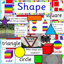 SHAPE RESOURCES on CD - MATHS, DISPLAY KS1, KS2, Numeracy- games, shapes