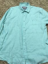 Tommy Hilfiger Blue & White Checked Men's Button-Down Shirt, Size Small