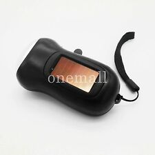 Black 3-LED Torch Dynamo Solar powered lamp Hand Crank Flashlight Rechargeable!!
