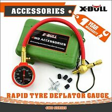 X-BULL E-Z Tire Deflator Pressure Gauge Kit Tyre Air Deflators Brass 4WD