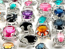 wholesale jewelry lots 5pcs Big stone silver plated Rings New free shipping