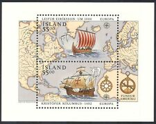 Iceland 1992 Columbus/Ships/Sailing/Nautical/Exploration/Transport 2v m/s n40346