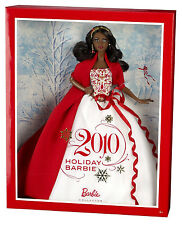 2010 HOLIDAY BARBIE A/A DOLL - 6+ Collector Edition BRAND NEW!!