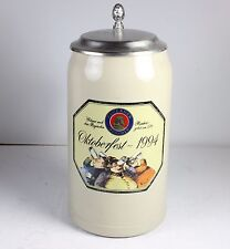 GERMAN LIDDED STEIN * 1 L * 1994 PAULANER OKTOBERFEST * GERMANY BY FRANZ STOBER
