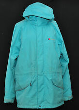 BERGHAUS GORETEX PERFORMANCE SHELL LADIES HIKING JACKET 16 HOOD LIGHT GREEN