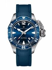 NEW HAMILTON FROGMAN 42MM BLUE DIAL/ BLUE RUBBER H77705145