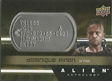 "Alien Anthology - DT-VR Dominique Pinon ""Vriess"" Space Marine Dog Tag Card"