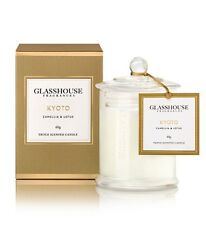 GLASSHOUSE MINI CANDLE 60g - KYOTO -  CAMELLIA & LOTUS - FAST AUST POST