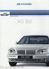 Prospekt Hyundai XG 350 2/03 Autoprospekt 2003 Auto PKWs brochure brosjyre