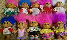 Lot of 10 Vintage Russ Troll Dolls 4.5 Inches tall Cheerleader  1B