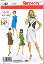 Vtg 60s Retro Color Block Dress Simplicity Sewing Pattern Plus Sz 20 22 24 26 28