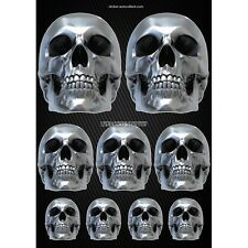 Stickers autocollants Moto casque réservoir Skull Format A4 2507