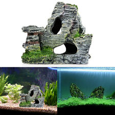 Mountain View Rockery Aquarium Rock Cave Tree Bridge Fish Tank Ornament Decor