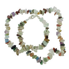"MULTI-STONE 18"" CHIP NECKLACE W/ SS CLASP A+"