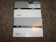 2005 Saturn Vue Owner Owner's User Guide Operator Manual CVT 2.2L 3.5L 4Cyl V6