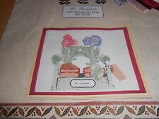 """kit point de croix compté BAB' S CREATIONS """"mes plantations, fleurs"""" - neuf"""