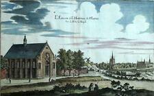 LA CHAPELLE DE L'HOPITAL SAINT LOUIS A PARIS gravure aquarellée de Merian 1661