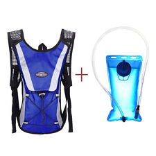 Water Bladder Bag Backpack+Hydration Packs Hiking Camping 2L outdoor sport