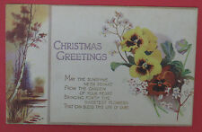 ANTIQUE TUCK'S CHRISTMAS GREETINGS POSTCARD-WATER COLOUR/COLOR SERIES C3617